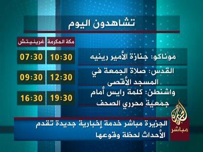 Al Jazeera Mubasher (Nilesat 201 - 7.0°W)