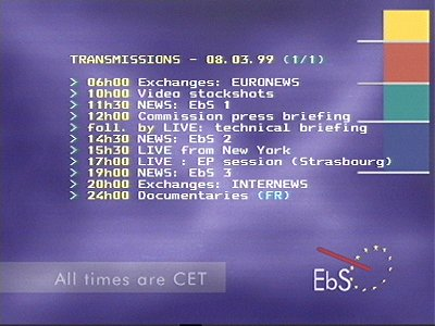 EBS - Europe by Satellite (Eutelsat 9A - 9.0°E)